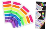 4 Sets Neon Page Markers Colored Index Tabs Fluorescent Sticky Note For Page