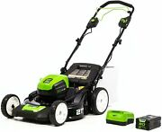 Greenworks Pro 80v 21-inch Brushless Self-propelled Lawn Mower 4.0ah Battery And