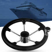 Stainless Steel 13-1/2and039and039 Boat Steering Wheel 5 Spoke Knurling Marine Accs