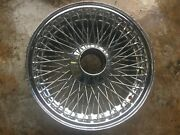 1964-1971 Jaguar Xke E-type Chrome Wire Wheel 15and039 X 6and039 Orig Oem