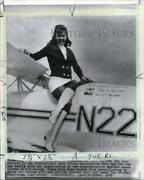 1969 Press Photo Betty Skelton Franklin Poses On Wing Of Her Airplane