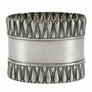 Antique Silver Napkin Ring Wonderful Russian Empire Silver 875 Moscow