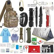 Outdoor Camping Climbing Exploring Emergency Survival First Aid Kit Hunting Tool