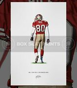 Jerry Rice Poster San Francisco 49ers Art Illustrated Print