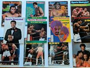 Muhammad Ali Cassius Clay Vintage Sports Illustrated Lot Of 12 1970's 80's