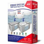 Cube Storage Space Bags Storage Bag Totes With Reusable Cubic Vacuum Compress...