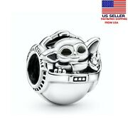 Pandora 799511c01 Star Wars The Child And Crib Charm Without Pandora Pouch