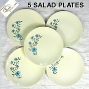 Vintage Edwin Knowles Evening Song Kalla Salad Plate 7-3/8 Mid-century Set Of 5
