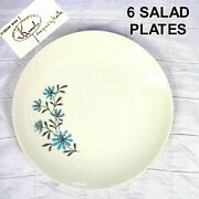 Vintage Edwin Knowles Evening Song Kalla Salad Plate 7-3/8 Mid-century Set Of 6