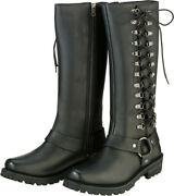 Z1r 2017 Womens Motorcycle Savage Leather Boots Size 6-10