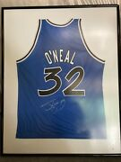 Nba Shaquille O'neal Signed Framed Magic Jersey With Jsa Loa