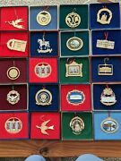Set Of 1981-2000 White House Christmas Ornaments. 20 Years Of Holiday History