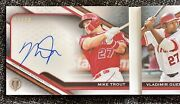 2021 Topps Tribute /10 Tandems Book Card Auto Mike Trout Vladimir Guerrero