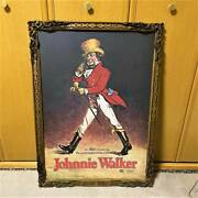 Novelty Johnnie Walker Oversized Picture Frame Painting Scotch Whisky Bar Oil