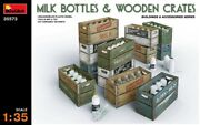 Miniart 35573 - 1/35 Milk Bottles And Wooden Crates - New