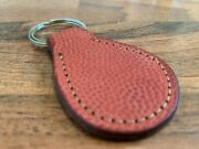 Wilson Horween Nfl Football Round Key Chain - Real Official Nfl Leather