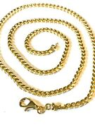 22 Inch 3mm Italian 18k Solid Gold Franco Link Chain Mens/womens Weighs 34.9g