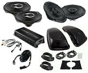Sx165neo Sx690neo Speaker Bag Lid Pkg W/ Adapters And Hmp4d Amp For Harley