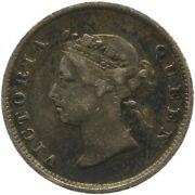 1891 4 Pence British Guyana West Indies Silver Coin Victoria Mo1920-