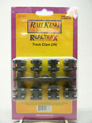 Mth Railking Realtrax Track Clips 24 Pack O Gauge Train Railroad Freight 40-1041