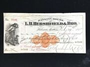 U.s Used Ck Rnd9 L.h. Hershfield And Bro Helena Mt 1875 Payable In Gold