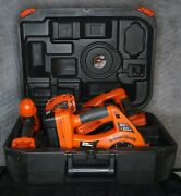 Black And Decker Power Pak 18v Firestorm 4 Tool Set Saw Drill Charger And Case Read