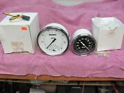 Lot Of 2 Classic Instruments Speedometer 4.5 Inch White With Tachometer 3 3/8 Bl