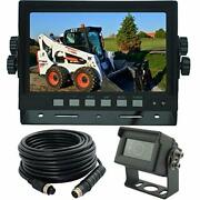 Autopal 7 Inches Wired Monitor Rear View Backup Camera System For Farm Tractor,