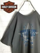 Atmosphere Harley Davidson Star Print T-shirt Made In Mexico