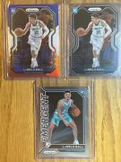 Lamelo Ball Prizm Rookie Rc Lot - Red, White, Blue / Base / Emergent 3 Cards
