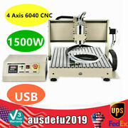 Usb 4 Axis 6040 Cnc 1500w Vfd Router Engraver Pcb Milling Wood Driiling Machine