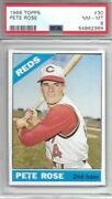 Pete Rose 1966 Topps Psa 8 Just Graded/centered/beautiful Card All Around