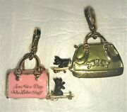 2 Juicy Couture Dog Carrier Charms One Pink - One Green