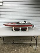 Vintage Rc 48andrdquo Dumas Wellcraft Scarab Cigarette Speed Boat Miami Vice With Stand