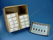 50 Leviton Brown Commercial Single Pole Toggle Wall Light Switches 15a 5501-2