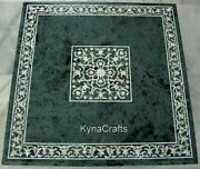 30 Inches Marble Dining Table Top Marquetry Art Restaurant Table For Home Decor