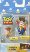 Disney Toy Story Buddy Pack Figures Action Woody And Prospector Package Creased