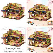 Diy Handcraft Wood Doll House Sushi Shop With Furniture Led Light 3d Puzzles