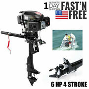 Hangkai 6 Hp 4 Stroke Outboard Motor Boat Engine Air Cooling Electronic Ignition