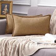 Miulee Pack Of 2 Decorative Throw Pillow Covers Farmhouse Modern Trimmed Cord...