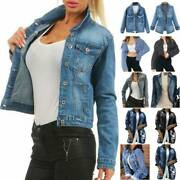 Womenand039s Long Sleeve Denim Coat Ladies Casual Jeans Jackets Outwear Tops