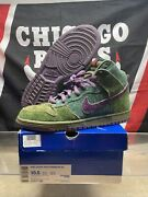 Size 10.5 - Nike Sb Dunk High Premium Skunk 2010 Preowned 313171-300