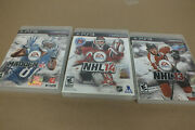 Madden Nfl 13- Sony Playstation 3 Ps3 - Nhl 14 And Nhl 13 Lot Of 3 Games