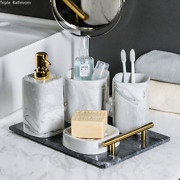 European Wash Set Ceramic Soap Perfume Bottle Soap Dish Cup With Tray Bathroom