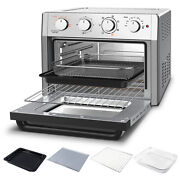 Electric Air Fryer Oven 23l Countertop Toaster Oven Rotisserie Bake Rack
