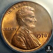 1978 Lincoln Penny Struck On A Thin Blank Wheigt 2.38 Grams Ms62 Rb Anacs