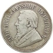 1894 Two And Half Shilling South Africa Paul Kruger Zar Silver Coin Mo2055-