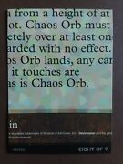 8 Of 9 Chaos Orb Ultra Pro Puzzle Set Piece Rare Mtg Magic The Gathering
