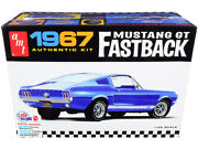 Skill 2 Model Kit 1967 Ford Mustang Gt Fastback 1/25 Scale Model By Amt
