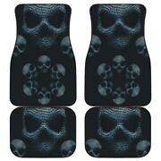 Set Of 4 Pcs - Awesome Gothic Skull Car Mats Day Of The Dead Mat Skull Car Mat